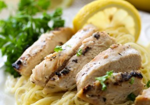 Lemon Herb Chicken Pasta from chef-in-trainign.com ….This meal tastes so refreshing and will soon be a family favorite!