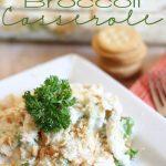 Creamy Chicken Broccoli Casserole! Easy, fast, and delicious!