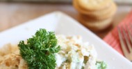 Creamy Chicken Broccoli Casserole! Easy, fast, and delicious!