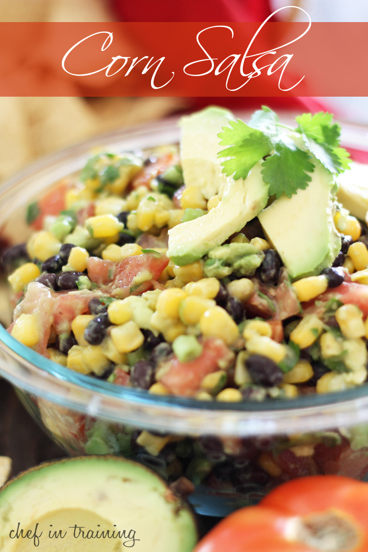 Corn Salsa! A refreshing and delicious appetizer! It disappears quicker than it's made! #recipe #appetizer