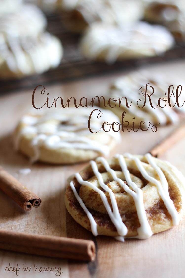 Cinnamon Roll Sugar Cookies - Chef in Training