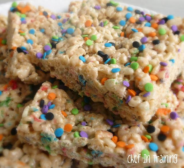 Cake Batter Rice Krispie Treats... I may never eat regular rice krispie treats ever again! These are AMAZING!