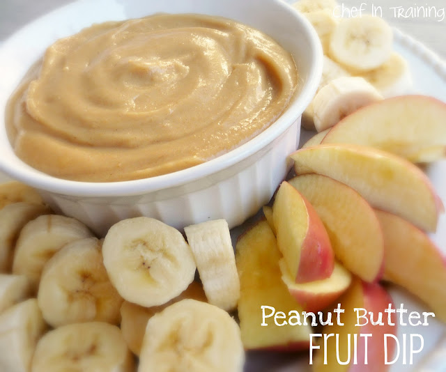 Peanut Butter Fruit Dip… This dip is amazing! We love to dip our favorite fruits in it :)