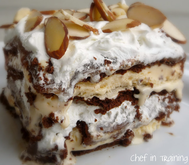 Ice Cream Sandwich Cake from chef-in-training.com …this dessert is so easy to throw together and always gets rave reviews!