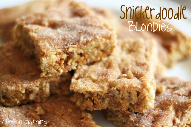 Snickerdoodle Blondies… these are SO easy and taste AMAZING!