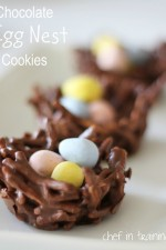 No-Bake Chocolate Egg Nest Cookies