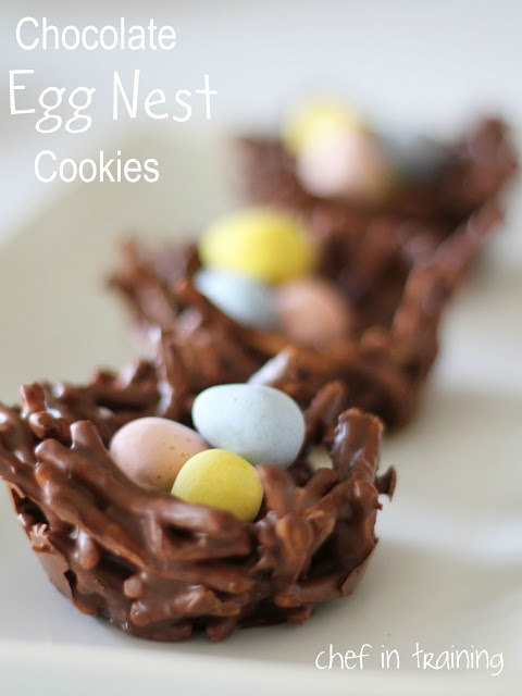 These Chocolate Egg Nest Cookies are so cute and delicious! They make for a delicious Easter and/or spring treat!