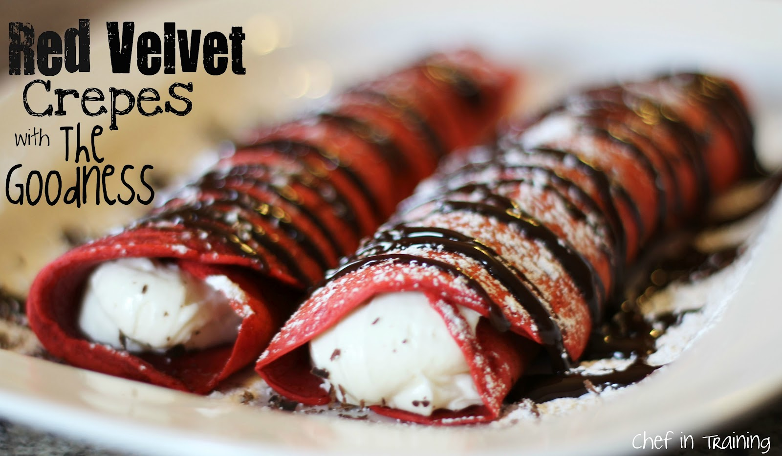 Red Velvet Crepes with The Goodness