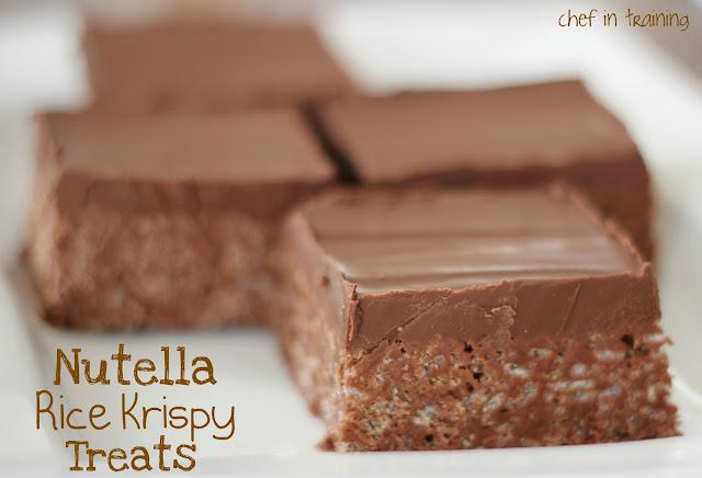 Nutella Rice Krispy Treats