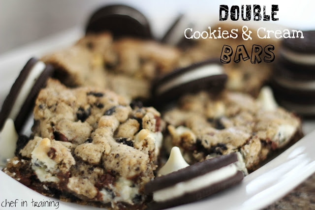Double Cookies and Cream Bars - Chef in Training
