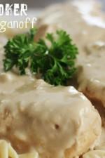 Slow Cooker Chicken Stroganoff