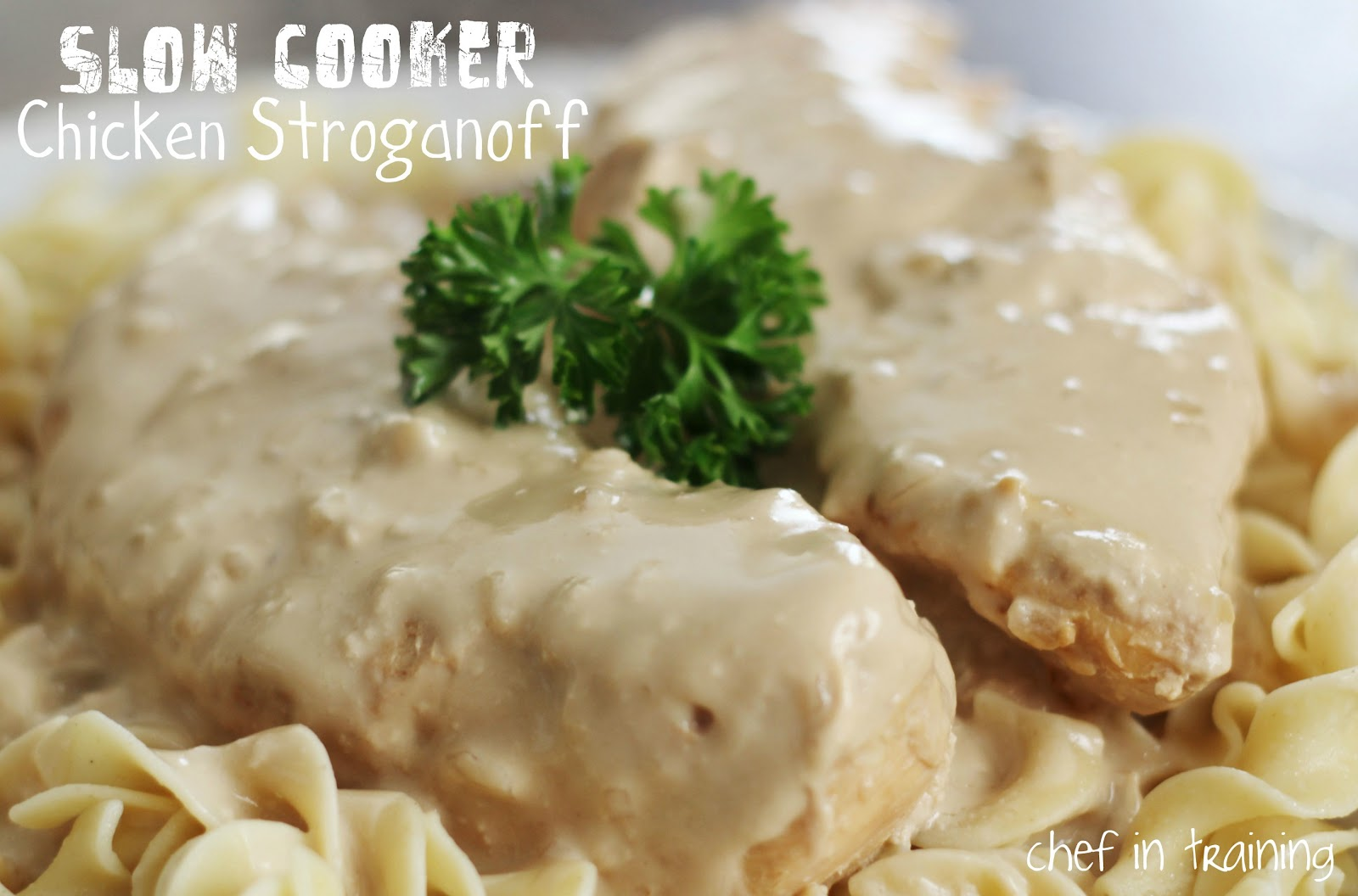 Slow Cooker Chicken Stroganoff - Chef in Training