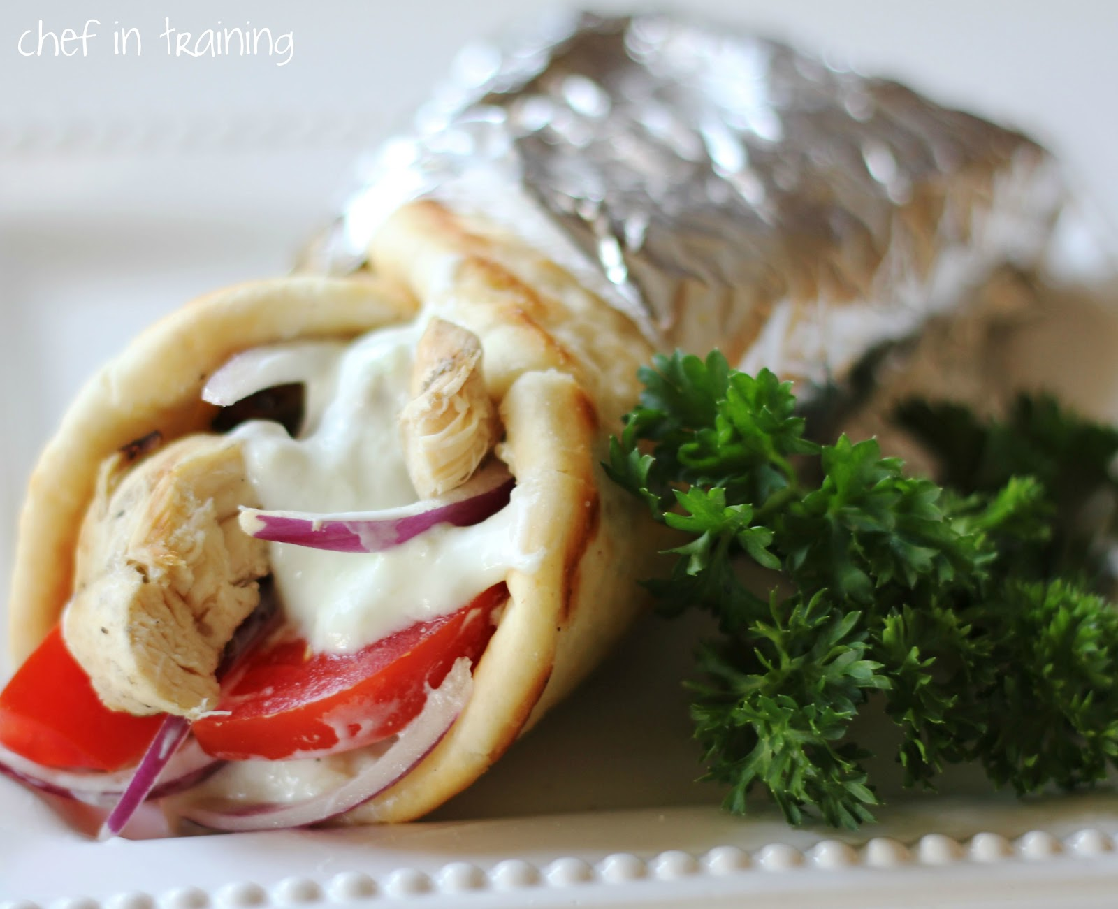 Greek Gyro Chicken Tzatziki Sauce And Flat Bread Recipe Chef In Training