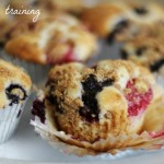 Berry Cheesecake Muffins