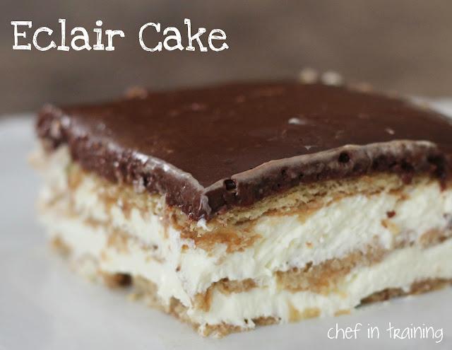 Chocolate Cake Mix Eclairs