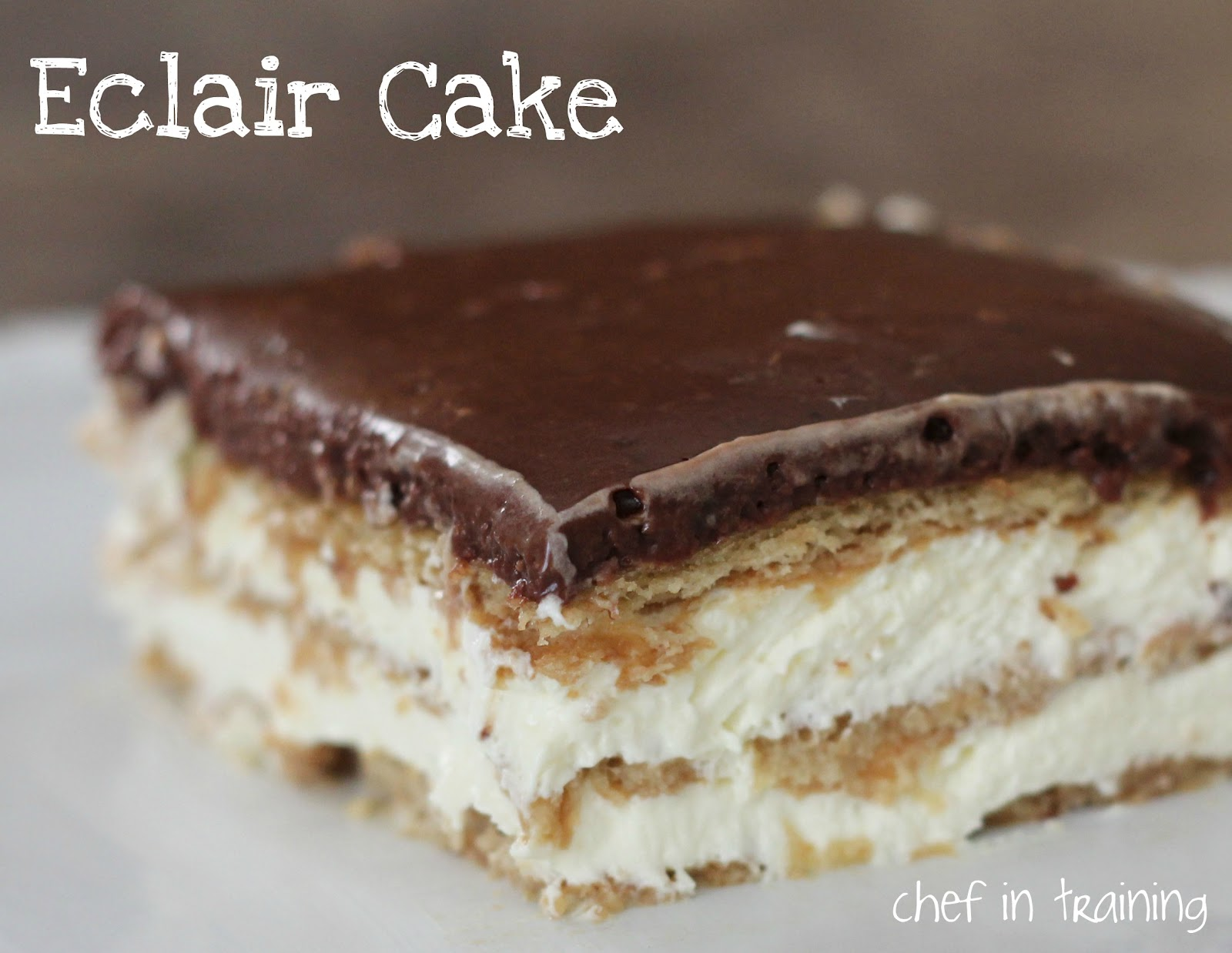 Eclair Cake Chef In Training
