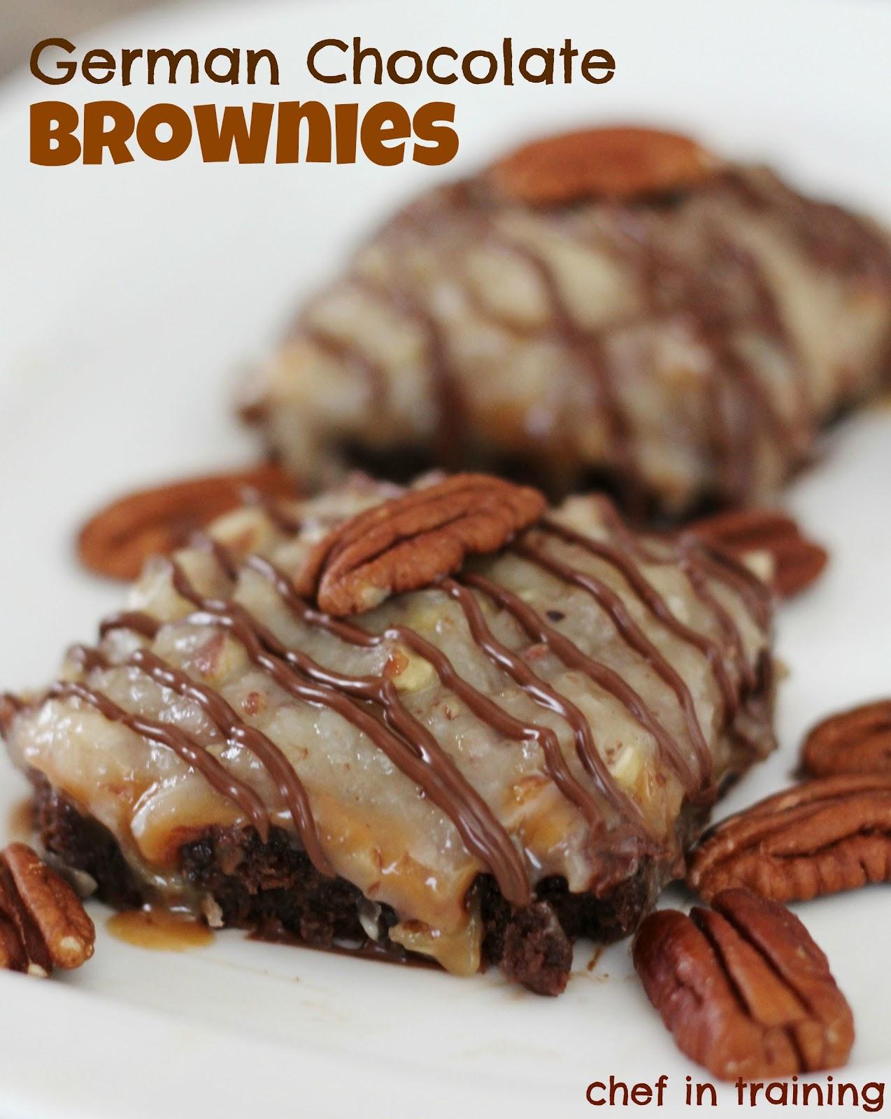German Chocolate Brownies - Chef in Training