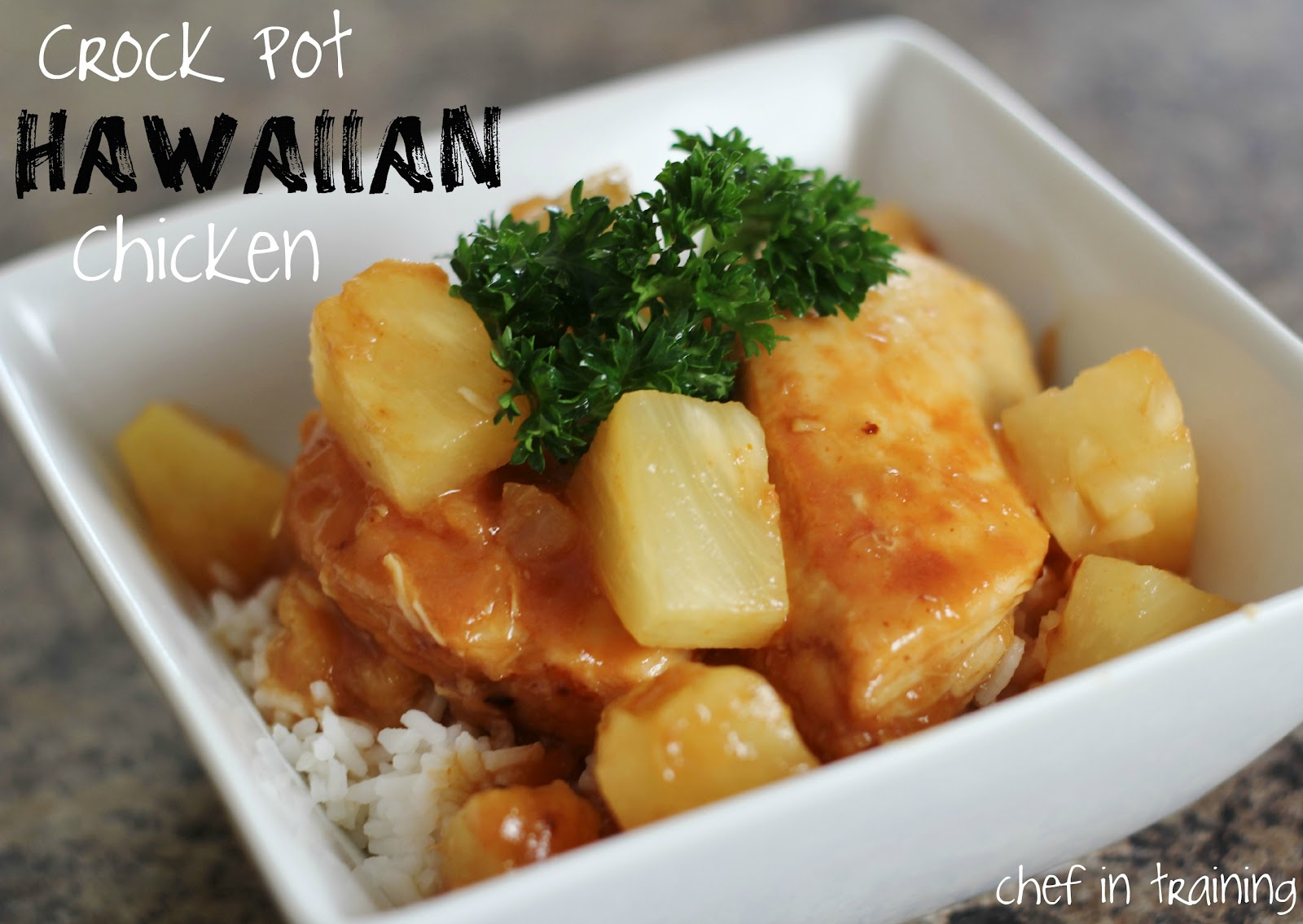 Crock Pot Hawaiian Chicken {Freezer Meal} - Chef in Training