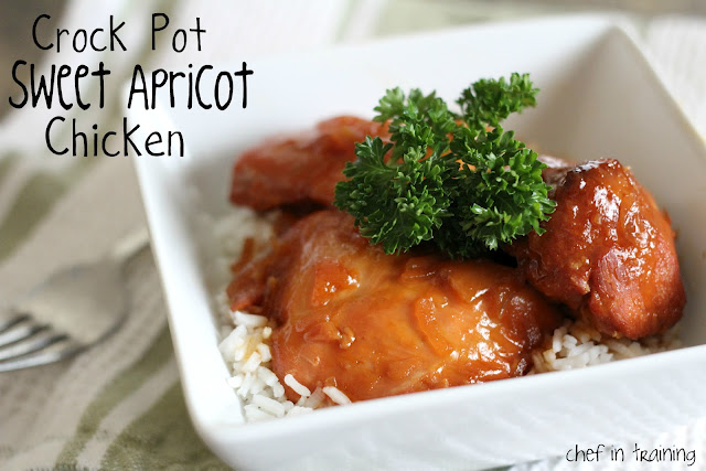 Crock Pot Sweet Apricot Chicken - Chef in Training