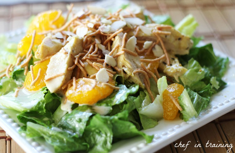 My family loves this Oriental Chicken Salad. The dressing adds an ...