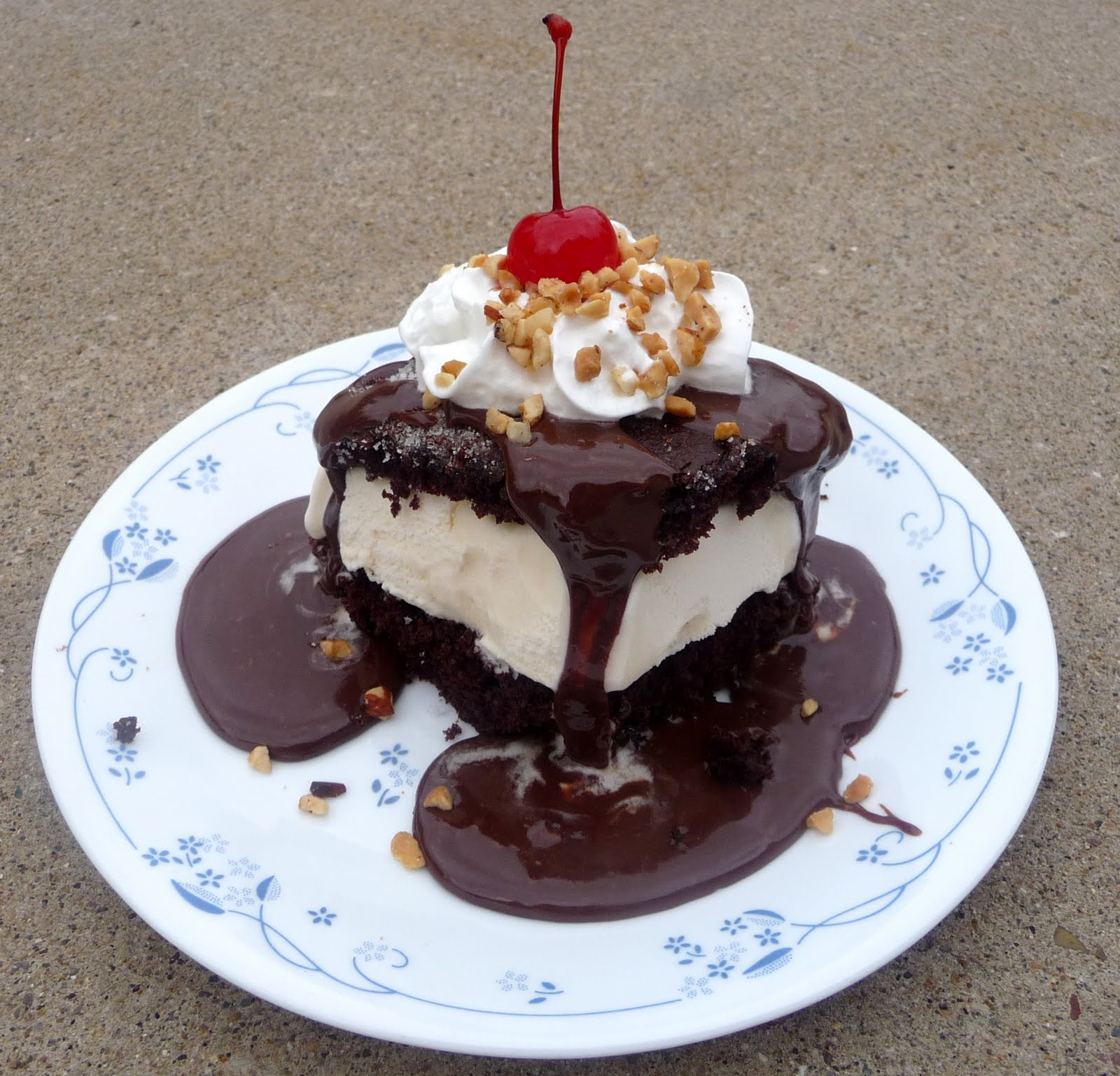 Hot Fudge Ice Cream Cake - Chef in Training