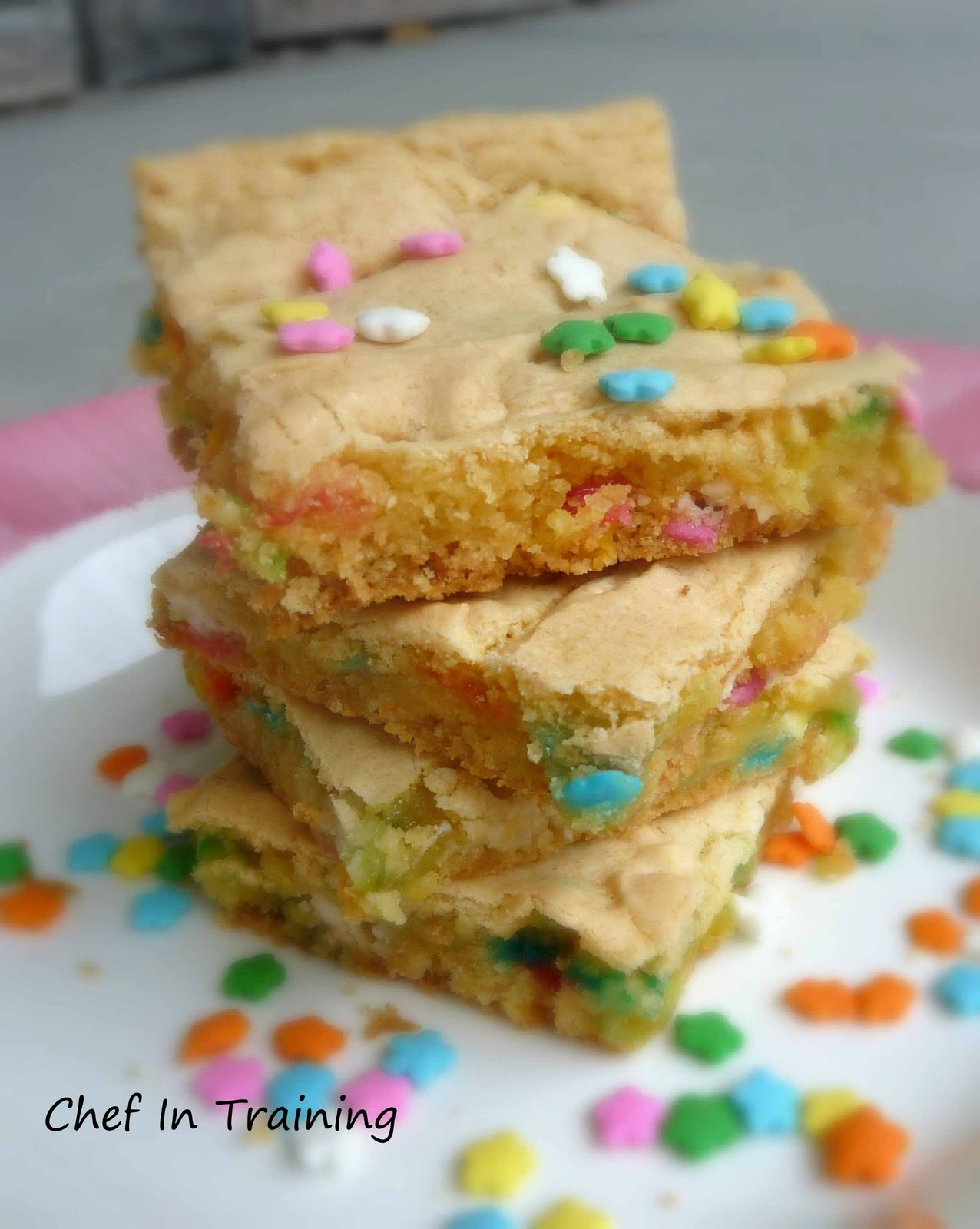 Yellow Cake Mix Blondies
