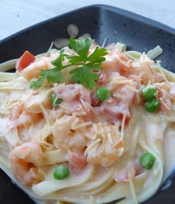 Shrimp Pasta Alfredo