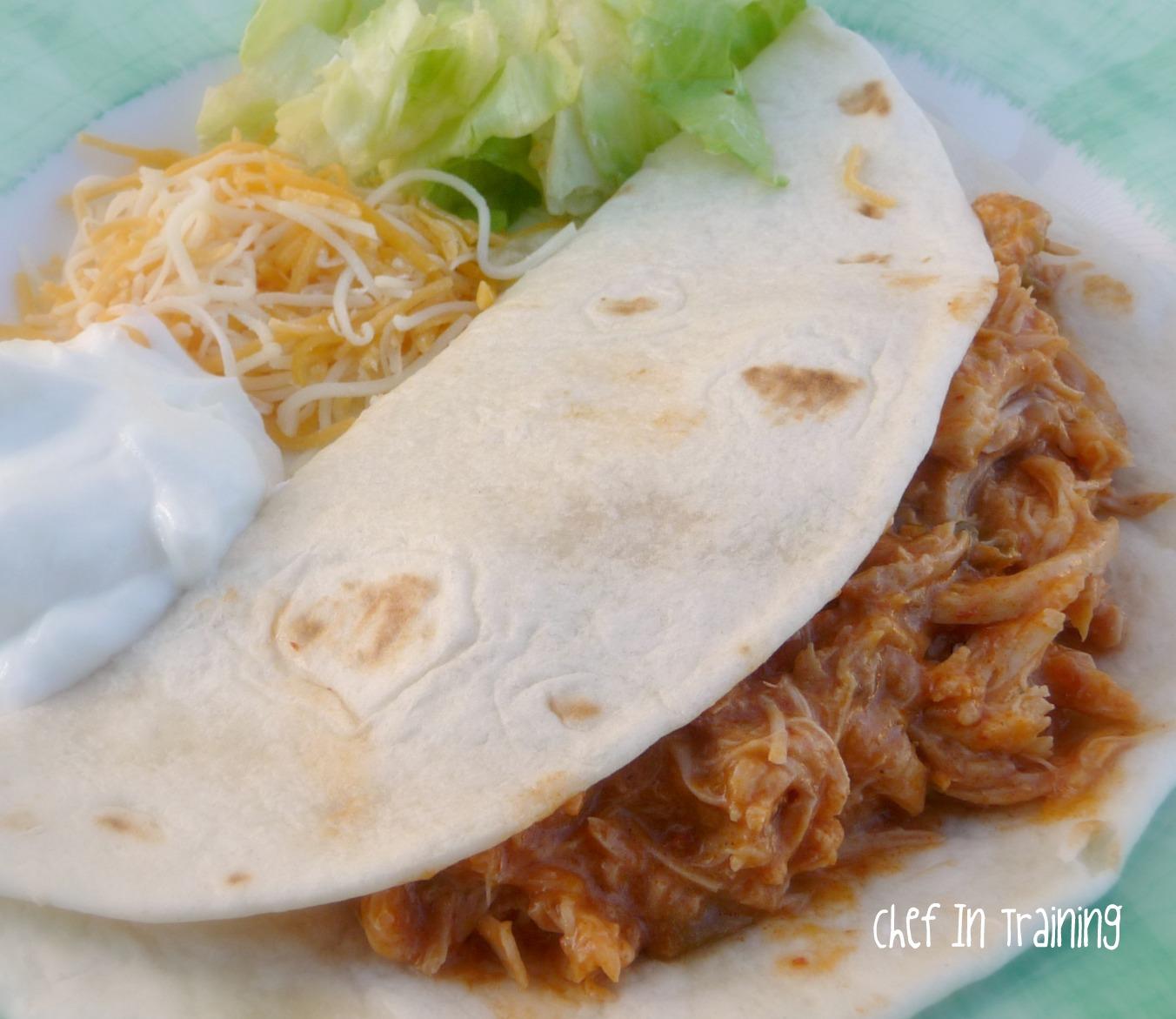 Slow Cooker Salsa Chicken - Chef in Training