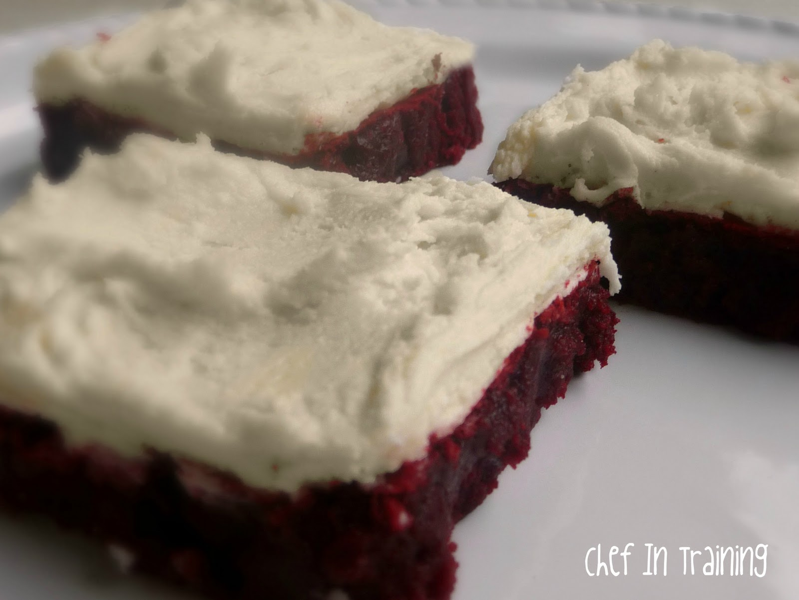 Red Velvet Brownies with White Chocolate Buttercream Frosting - Chef ...