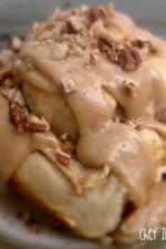 Apple Cinnamon Rolls with Caramel Frosting