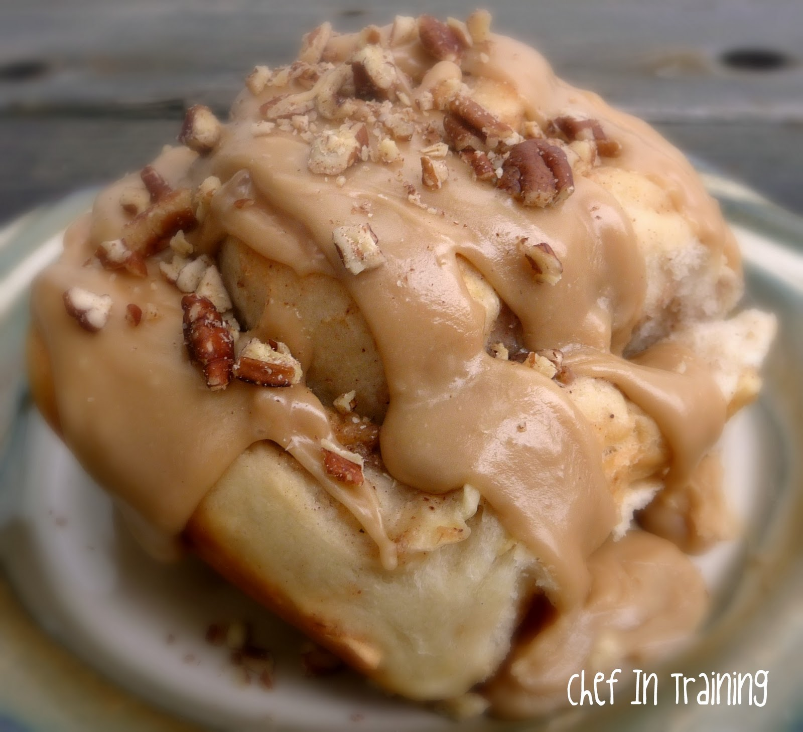 Apple Cinnamon Rolls with Caramel Frosting | Chef in Training