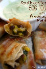 Southwestern Egg Rolls with Avocado Ranch