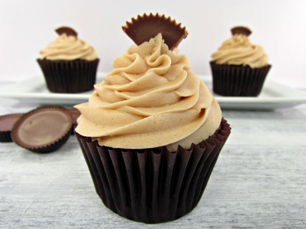 best chocolate cupcakes with peanut butter frosting