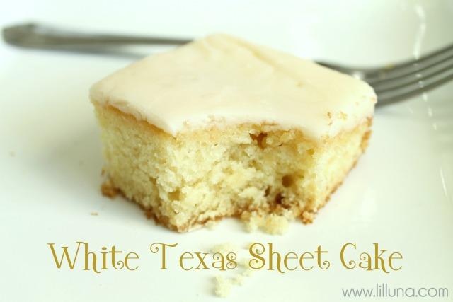White Chocolate Texas Sheet Cake Recipe