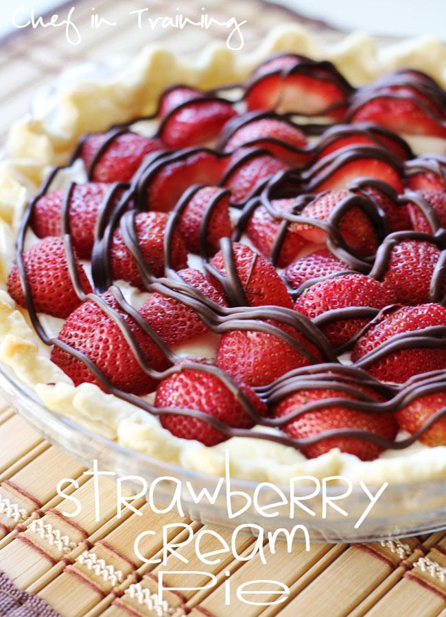 Strawberries And Cream Recipe Easy Easy Strawberry Cream Pie