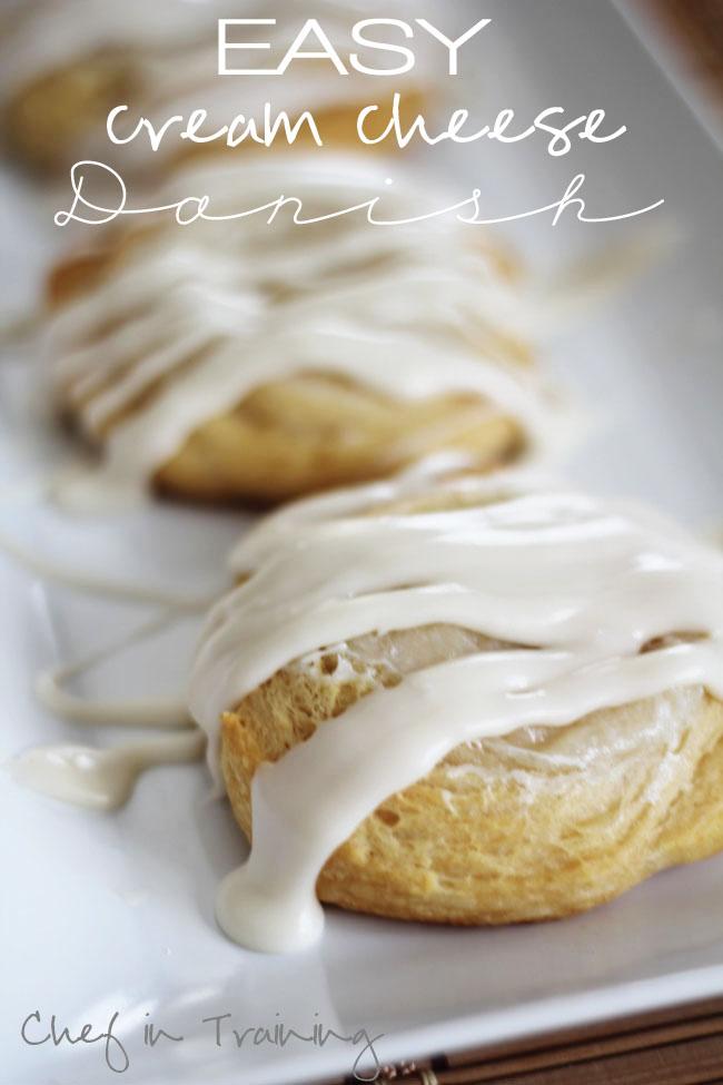 Easy Cream Cheese Danish | Chef in Training