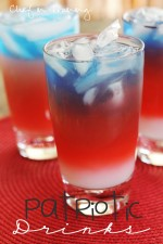 Layered Patriotic Drinks