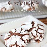 Chocolate Crinkle Cookies!  These beautiful cookies taste just like brownies and are perfect for that chocolate craving!