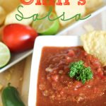 Copy-Cat Chili's Salsa!  This tastes exactly like the original and whips up in just a few minutes!