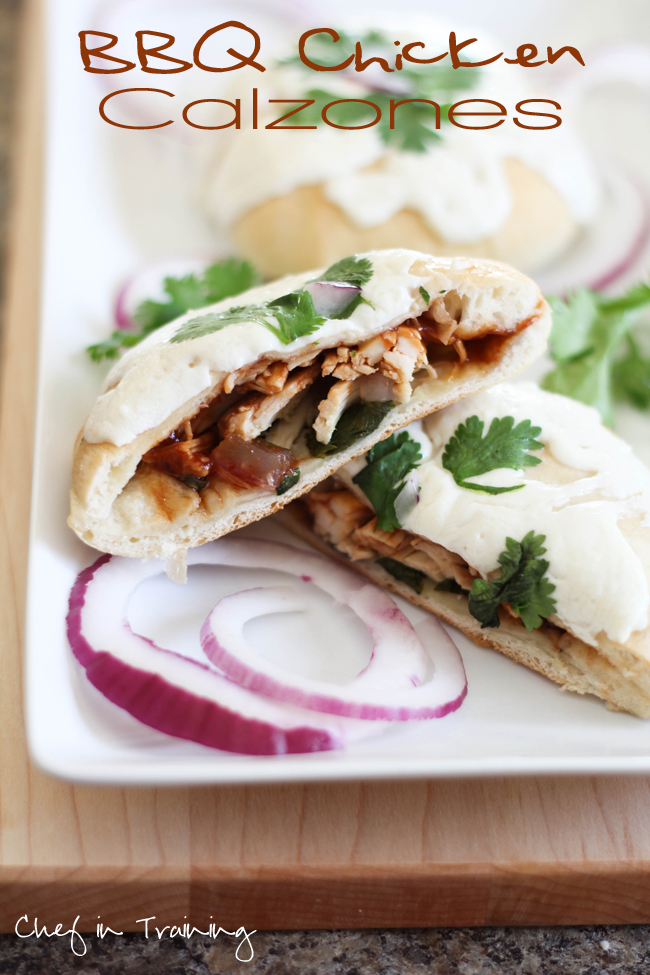 BBQ Chicken Calzones! EXTREMELY easy to make and a recipe your entire ...