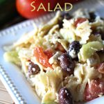 Greek Pasta Salad! This salad is SO easy to throw together and can be served warm or cold! A light delicious and healthy meal!