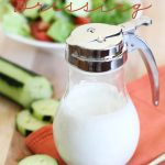 Creamy Cucumber Dressing!  This is so easy to make and is a fun and fresh flavor for salads!