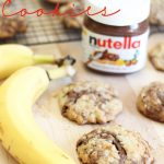 Nutella Banana Cookies!  A great way to use up ripe bananas! They are SO good!