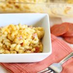 Pepperoni Pizza Mac and Cheese! A yummy twist on a classic recipe!