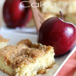Apple Streusel Cake! This cake is DELICIOUS! A semi-homemade recipe that no one would ever guess you took a short-cut to make it!