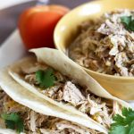 Slow Cooker Salsa Verde Pork!  This recipe is so easy! The pork is so juicy and flavorful, it literally just falls apart!