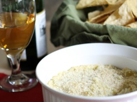 Green Chile Jalapeño Dip! The perfect combo of heat and cool. It is SO easy to make and would make the perfect appetizer to any party!