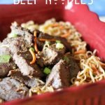 Asian Beef Noodles! A super easy dinner and one your whole family will enjoy!