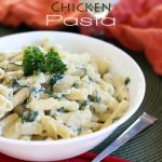 Creamy Alfredo Spinach Artichoke Chicken Pasta!... Combines so many great flavors in one easy dish!