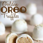 Golden Oreo Truffles!  Only 3 ingredients! These are so easy to make and completely delicious!